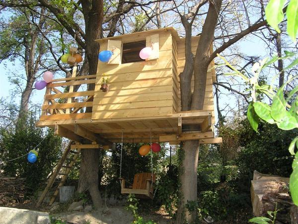 Casuta din copac pentru copilul tau sau proiectul pentru care muncesti zambind bricolage - Cabane dans les arbres enfant ...